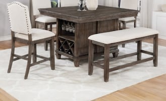 Regent Weathered Counter Height Dining Table