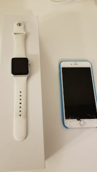 Apple watch + Iphone 6 plus silver