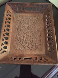 Exquisite handcrafted tray and carved in sandalwood from India Toronto, M1W 1H2