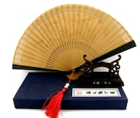 New in box! Collectible Chinese Bamboo fan, stand Toronto, M2J 2C2