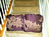Purple and beige decorative pillows (2) Woodbridge, 22192