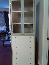Glass cabinet with 6 drawers  Surrey, V4N 6R6