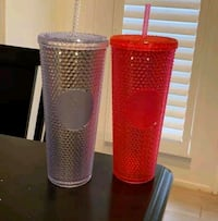 Limited Edition Starbucks Blinged out Cups Arlington