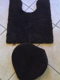 Dark brown toilet seat cover (standard ) and matching toilet rug Lady Lake, 32159