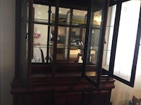 wooden framed glass display cabinet West Babylon, 11704