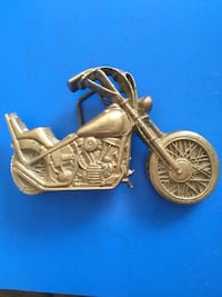 Vintage Belt Buckle circa: 1979  Easy Rider  Solid Brass (heavy)