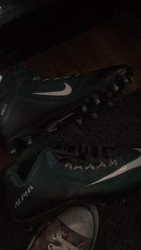 Pair of green and black nike foot ball cleats West Linn, 97068
