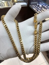 10k gold 8 sided franco chain
