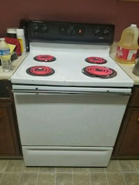 white and black electric coil range oven Augusta, 30901