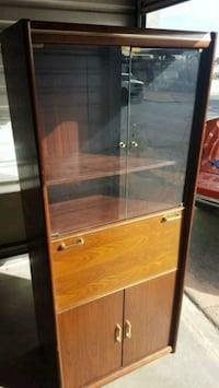 Glass Door Bookcase with lower storage