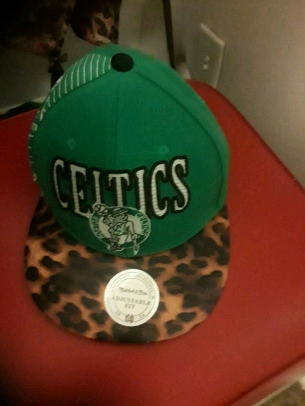 green and black Boston Celtics fitted cap