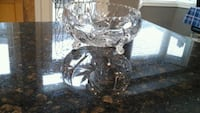 Crystal  footed bowl  vintage  perfect  pick up at weston and major ma Vaughan, L4H 2C2