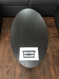 round black and white wooden table Clarington, L1C 0S5