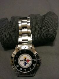 Stainless Steel Steelers Watch Pittsburgh, 15210
