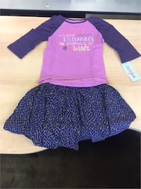 Cat & Jack Girls Top and Skirt Set 3T St. Catharines
