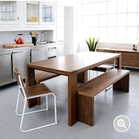 Full Solid Wood Table and Bench Toronto, M6K 1X8