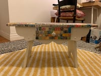 Handmade Collage Side Table New York, 10128