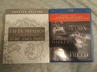 Fifty shades 3-movie  Blu-ray  and digital  Del Valle, 78617