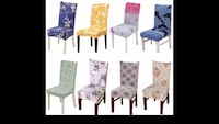 four white and blue padded chairs 26 mi