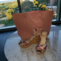 wedges and bag Chicago, 60640