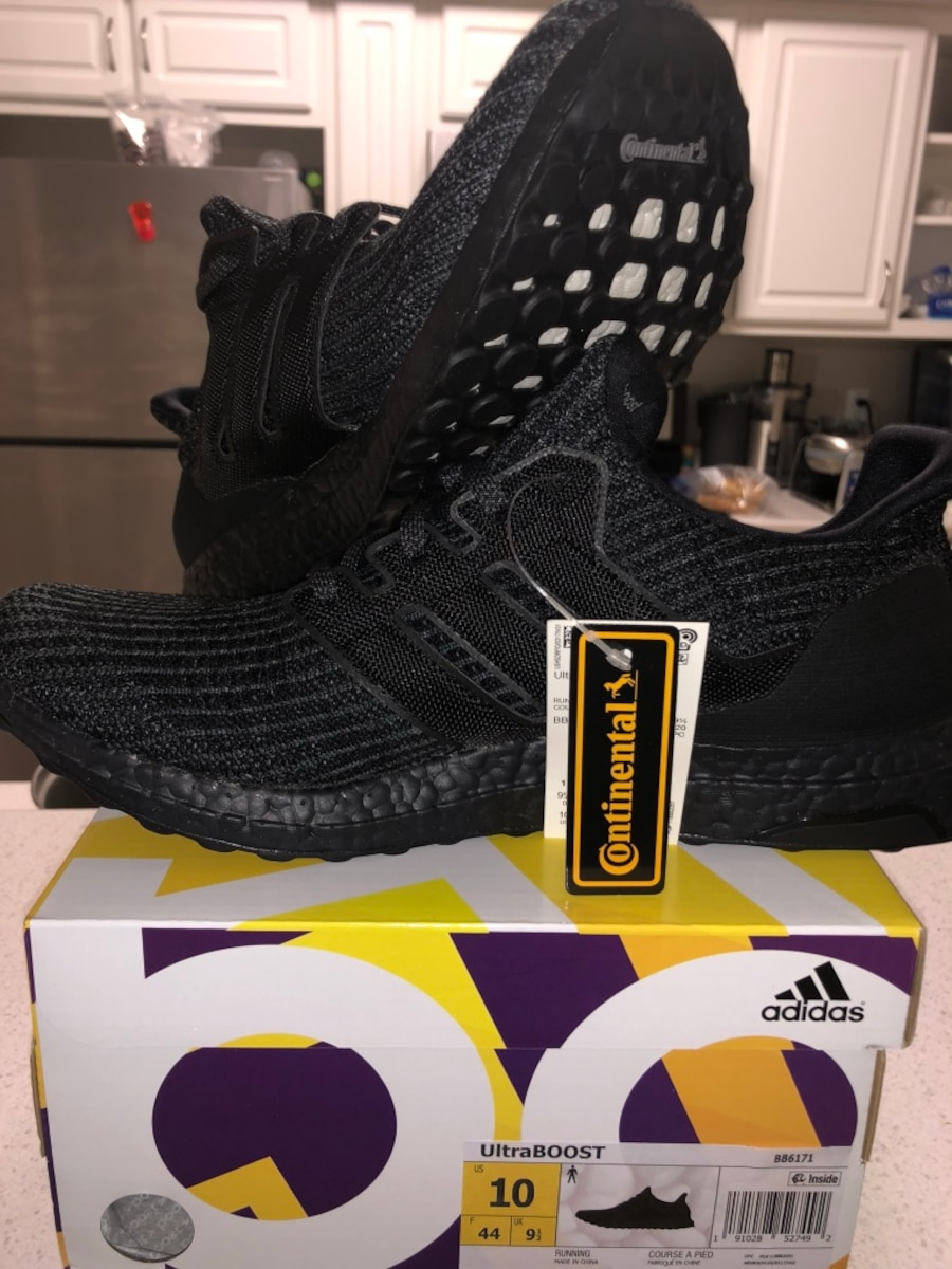 2e2f7ba83 Used Adidas Ultra Boost 4.0 Triple Black BB6171 LIMITED size 10 in ...