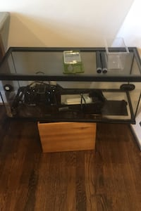 Terrarium - with lights, bowls, food, thermometers - reptile ready!