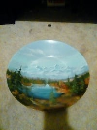 Hand painted dish plate  Hagerstown, 21740