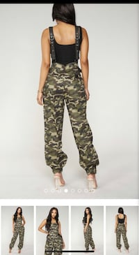 Army Fatigue Green Jumpsuit from Fashion Nova Spring Valley, 10977
