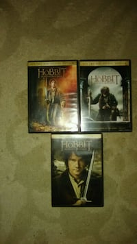 The Hobbit. All 3 movies on DVD  Amissville, 20106