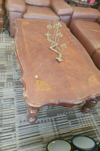 brown wooden middle table