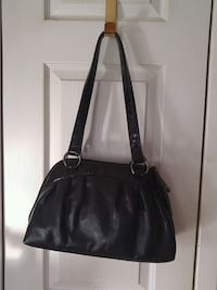 women's black leather tote bag Laval, H7W 2R8