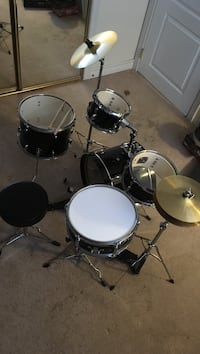 Black and white junior drum set