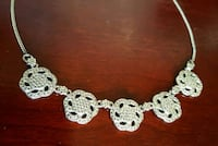 Sterling Silver Marcasite Necklace Queens, 11106