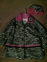 Girls coat with matching hat