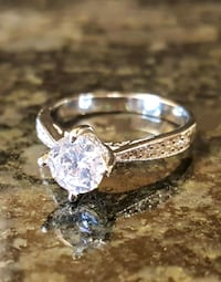 Flawless 1.5 Ct CZ Diamond Engagement Ring 925 Sil Surrey, V3S