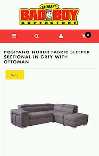 Sectional Sofa with Pull-Out Bed & Ottoman Toronto, M3L 1B2