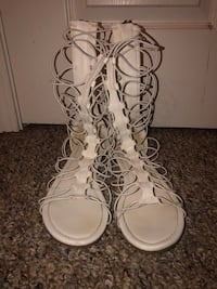 White gladiator sandals South Bend