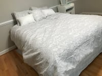 Queen Mattress Box Spring and Frame Herndon