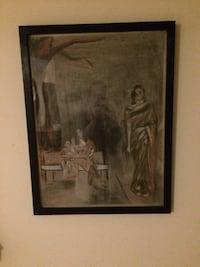 Charcoal painting with black frame  Hagerstown, 21740
