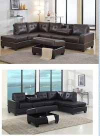 Leather sectional  Elgin, 60120