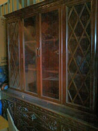 China cabinet with carvings
