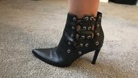 pair of black leather heeled boots Dumfries, 22025