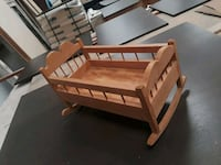 Wood grain wooden rocking cradle for baby doll Tampa, 33614