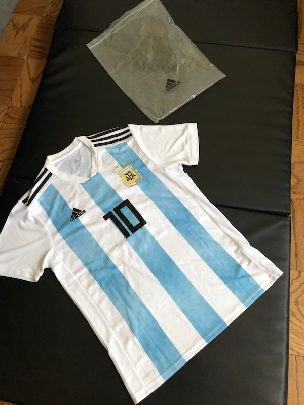 79e716b2acb22 Used blue and white Adidas 10 soccer jersey for sale in Los Angeles - letgo