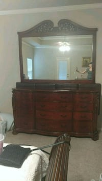 Urgent Sale! 12 drawer dresser and mirror very large