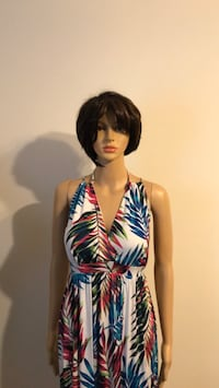 Auditions Palm Print Maxi Dress