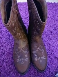 brown leather cowboy boots Terre Haute
