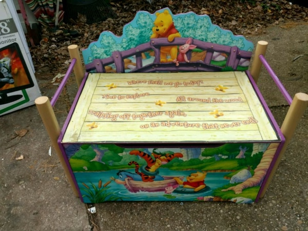 Prime Winnie The Pooh Childrens Toy Box Bench Ocoug Best Dining Table And Chair Ideas Images Ocougorg