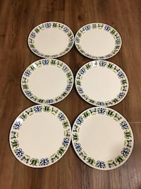 6-piece  Johnson bros dinner plates