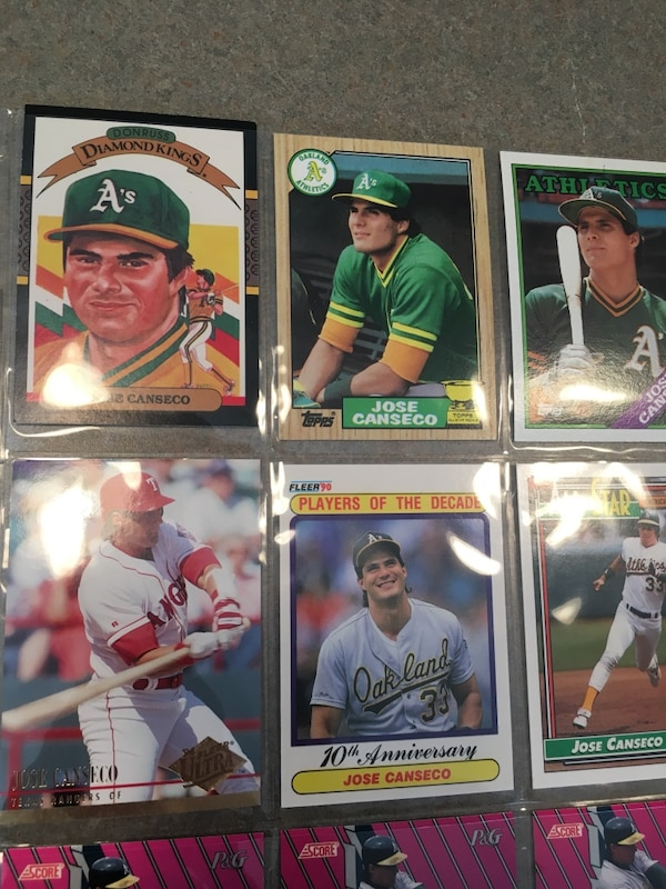 Jose Canseco Baseball Cards 9